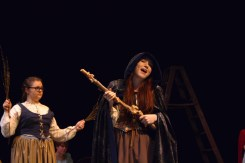 Senior Sarah Denison plays the witch in the class production.