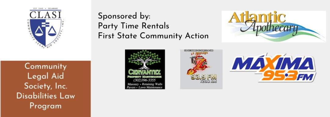 Covid-19 Vaccine Event sponsers: CLASI, Party Time Rentals, First State Community Action, Atlantic Apothecary, Maxima 95.3 FM, W.S.U.X LA ZMX, Cervantez Property Maintenance