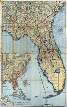 Complete map of Florida and the South  1905