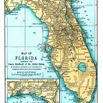 Map Of Florida Engraved For King S Handbook Of The United States 1892 Ad