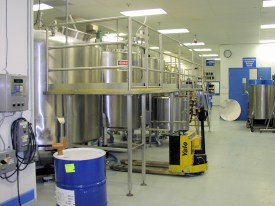 Pharmaceutical Mixing Tanks SS Access Platform