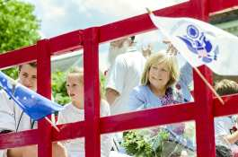 City of Falls Church 2017 Memorial Day Parade Grand Marshal Barbara Cram.