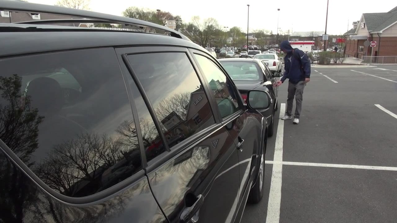 A SCREENSHOT FROM FALLS CHURCH'S public service announcement encouraging residents and other motorists to lock and remove valuables from their cars. (Photo: Courtesy of the Falls Church City Police Department)