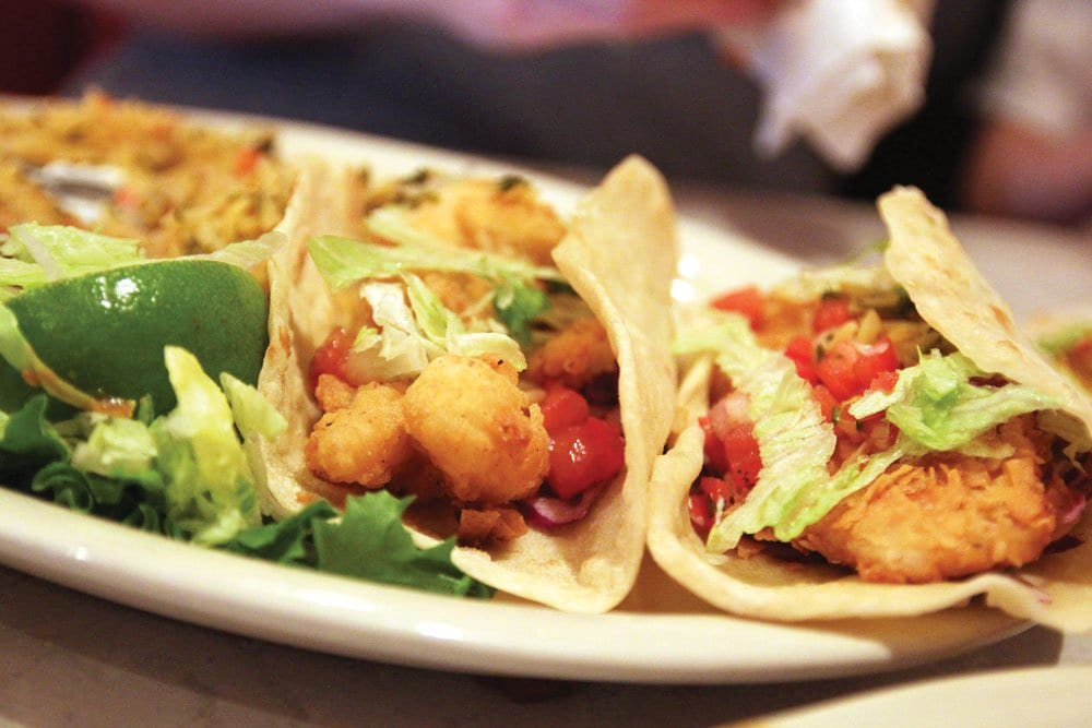 Baja tacos are one of the lighter options, but chances are you're still going to need to undo that belt buckle. (Photo: News-Press)