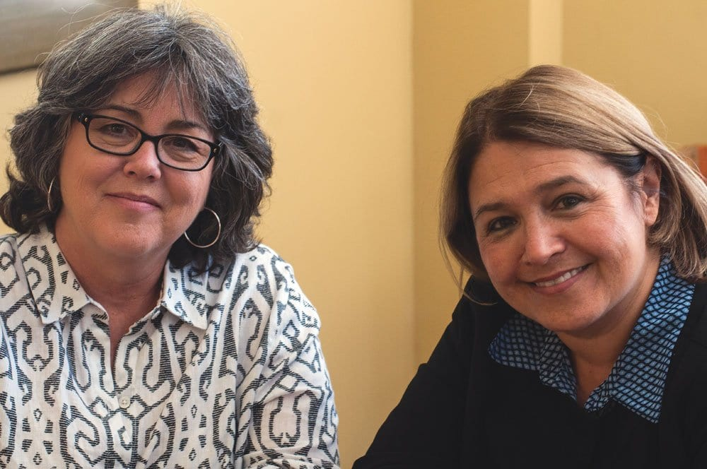 NEW FALLS CHURCH TREASURER Jody Acosta (left) and new Arlington Treasurer Carla de la Pava, friends for almost five decades, took office in their adjacent jurisdictions just days apart earlier this month. (Photo: News-Press)