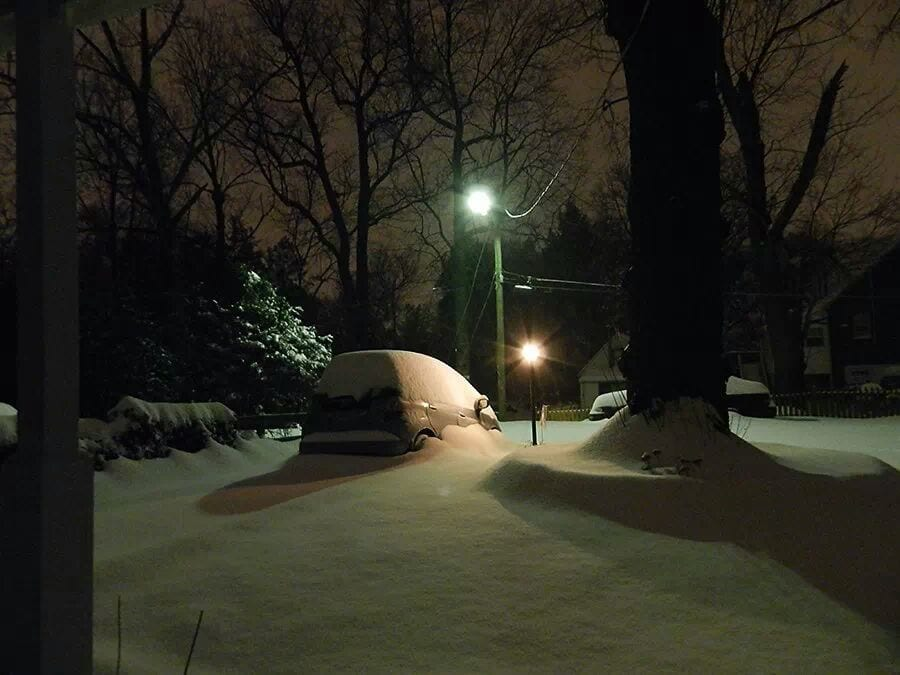 High St at about 6 a.m. on Feb. 13. (Photo courtesy Janet Siniard)