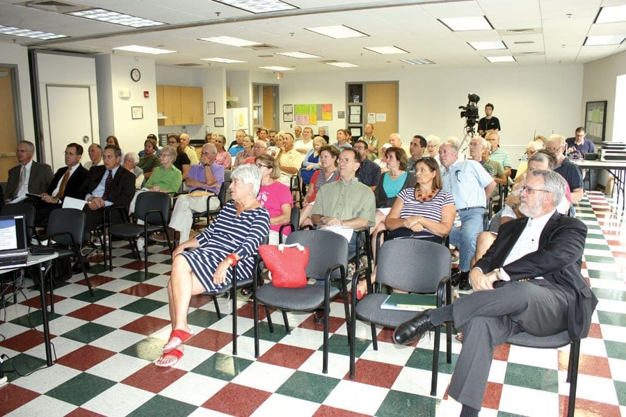 BIG TURNOUT for Saturday's forum on the November referendum on the sale of the F.C. water system. (Photo: News-Press)