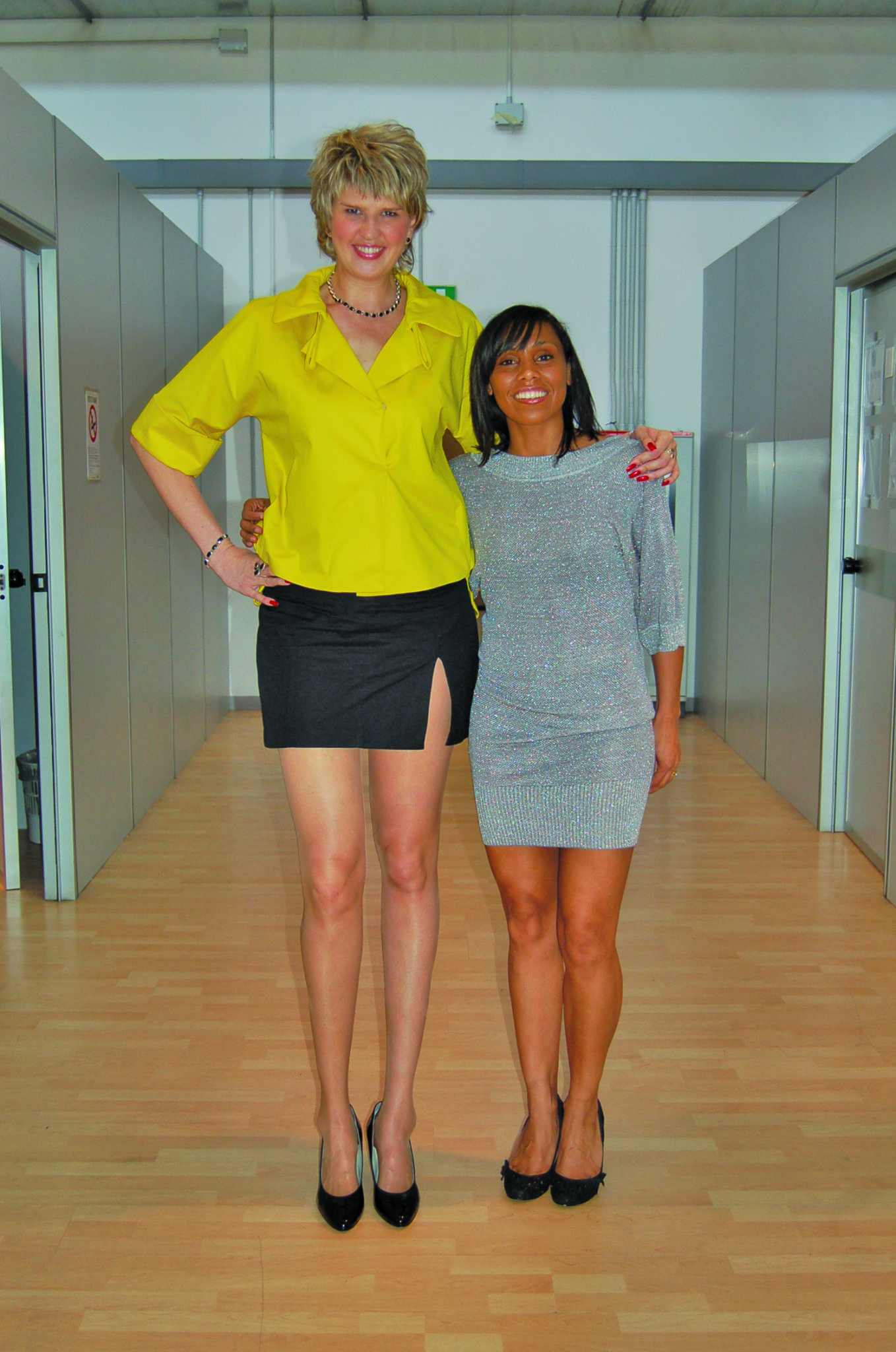 Falls Church's Svetlana Pankratova holds the Guinness Book world records for longest legs, measured at four feet, four inches long.  (Courtesy Photos)