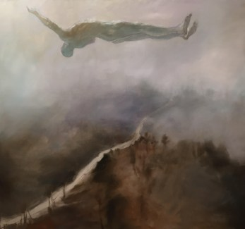 Tether, 2015. 181 x 167 cm. 71 x 66 in. Oil on Canvas. Paul Benney