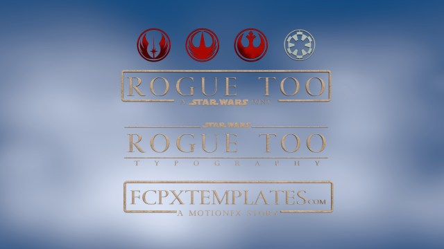 Rogue Too Font for FCPX Titling