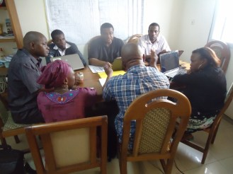 Meeting at FCTV Douala Office
