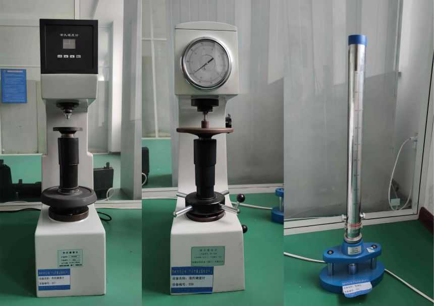 Hardness tester with pointer