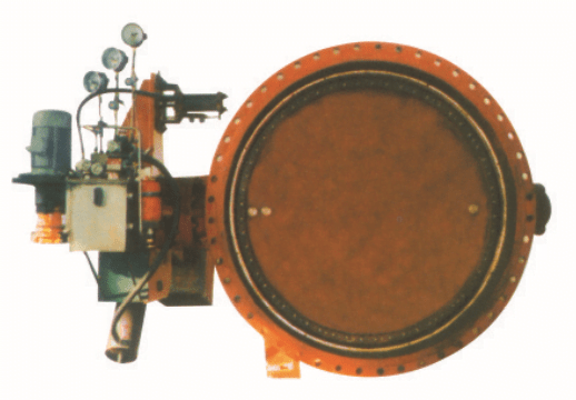 Hydraulic control check butterfly valve renderings
