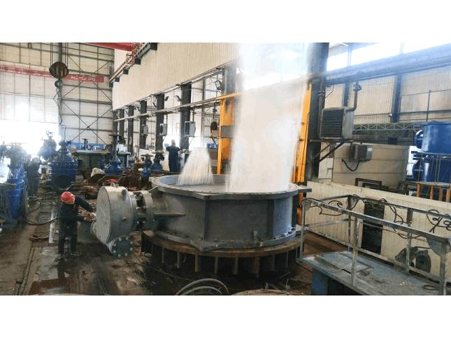 Large-diameter butterfly valve water pressure test