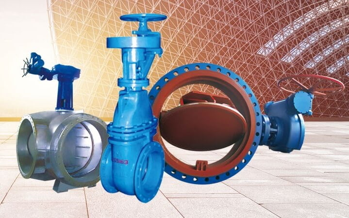FCV's four-way butterfly valve gate valve and eccentric butterfly valve display diagram