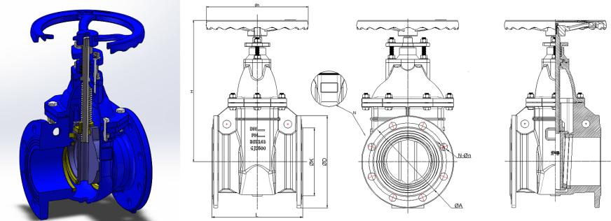 Size structure diagram