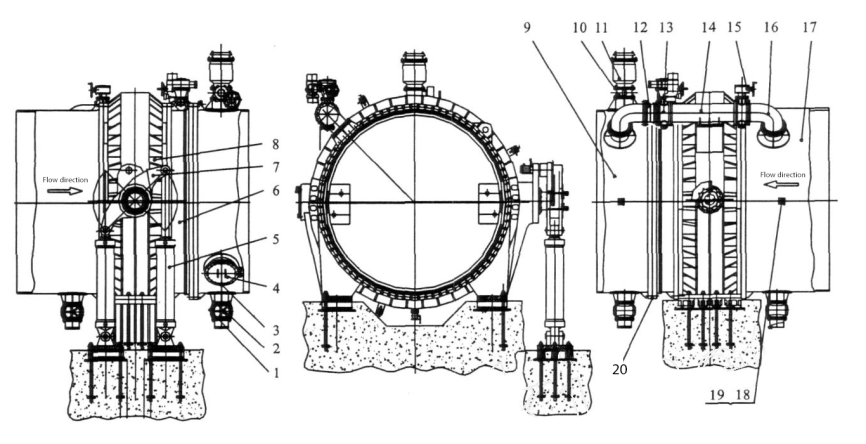 A manufacturer of complete sets of equipment for turbine inlet butterfly valves