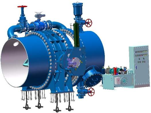 Full hydraulic control butterfly valve complete equipment manufacturer FCV