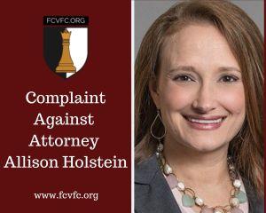 Complaint Against Attorney Allison Holstein
