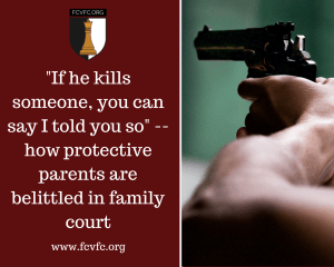 """If He Kills Someone, You Can Say I Told You So""–How Protective Parents Are Belittled in Family Court"