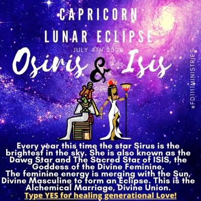 Divine Union Osiris and Isis