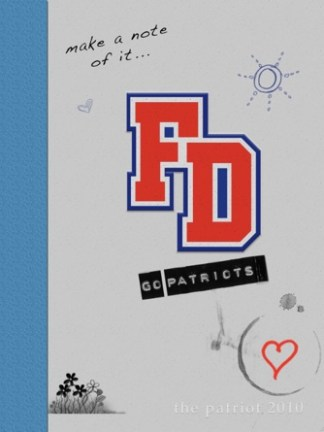 2010 Fort Dorchester Patriot Yearbook Cover