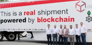 Frozen food shipment transported using blockchain tech