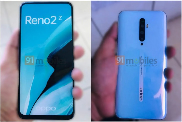 Oppo Reno 2Z live images leak showing quad rear cameras and notch-free screen