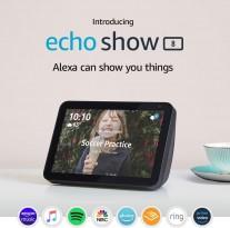 The Echo Show 8 falls between the Echo Show 5 (5\