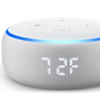 Echo Dot with clock (Sandstone only)