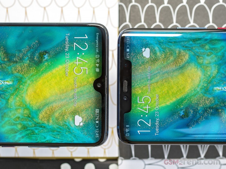 Huawei Mate 20 (left) and Huawei Mate 20 Pro (right)