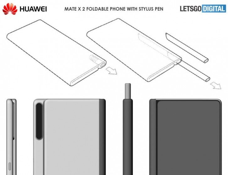Huawei Mate X 2 might have a stylus, according to a patent