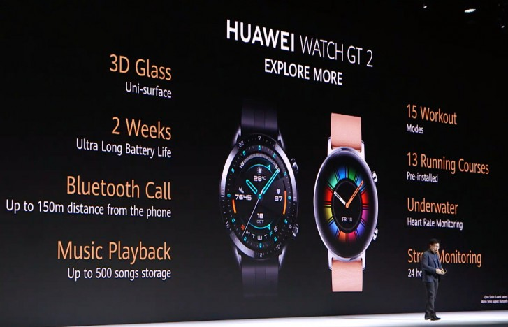 Huawei Watch GT 2 comes with Kirin A1 chipset and 2 week battery life