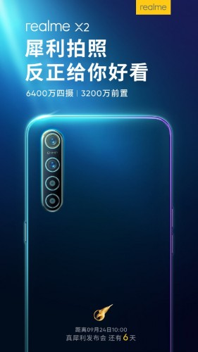 Realme X2 will sport a 32MP selfie camera