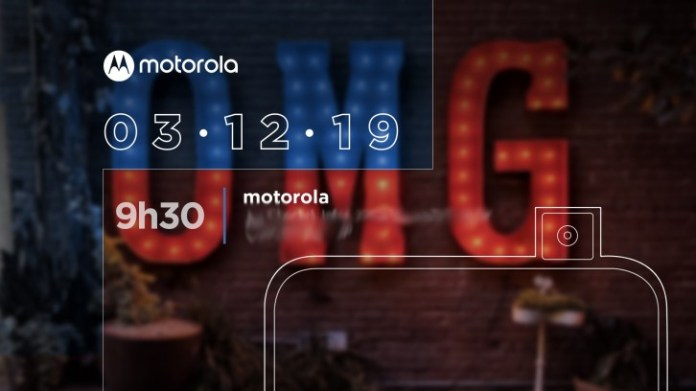 The Motorola One Hyper will be unveiled on December 3 - Moto's first pop-up camera