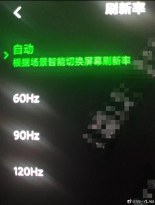 BlackShark 3 display resolution and refresh rate toggles