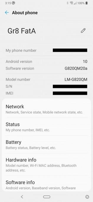 Pembaruan Android 10 untuk LG G8 ThinQ yang tidak dikunci di AS
