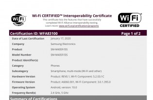 Samsung Galaxy A60 and M40 Wi-Fi certification
