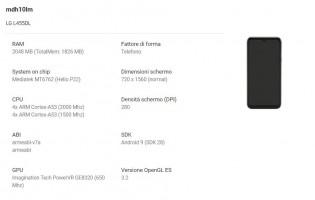 LG Premiere Pro Plus (left: Phone details from the Google Console