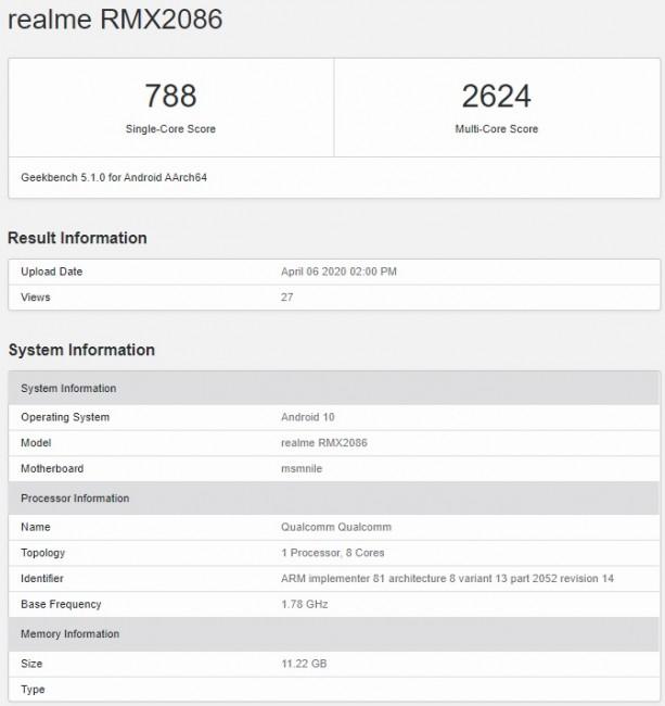 Realme X3 SuperZoom melewati Geekbench yang mengungkapkan spesifikasi, mengantongi banyak sertifikasi