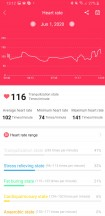 Heart rate data - Haylou Solar review