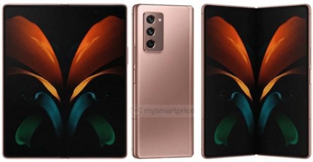 Samsung Galaxy Z Fold 2 5G Press Render Leaked
