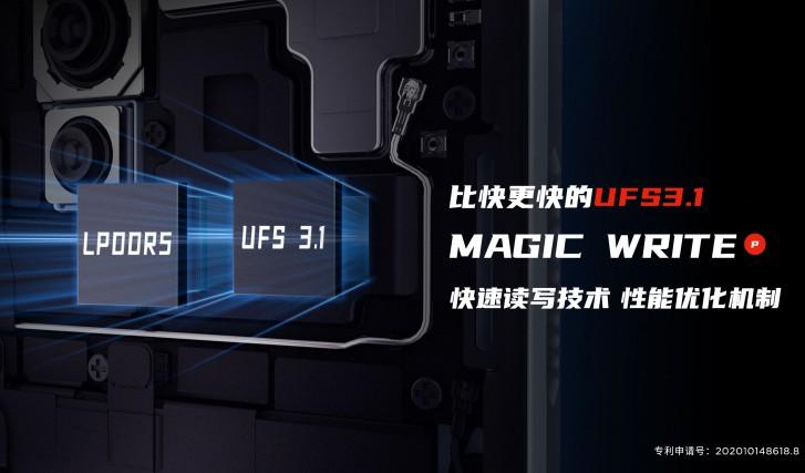 Red Magic 5S, UFS 3.1 bellek ve LPDDR5 RAM ile gelecek