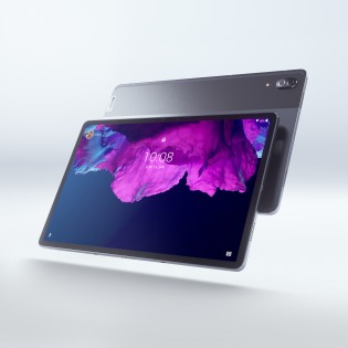 The Lenovo Tab P11 Pro body is made out of aluminum alloy and features a two-tone design