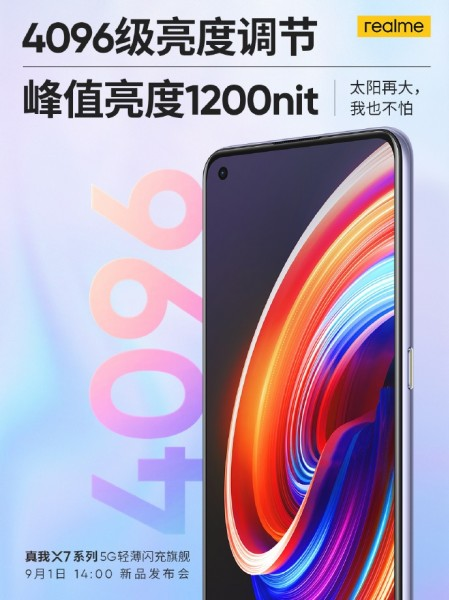 Realme X7 Series packs a punch hole display with a brightness of 1200 nits