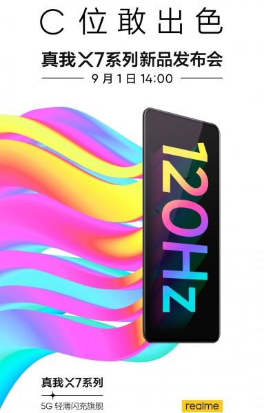 Realme X7 Pro, 1 Eylül'de 120Hz AMOLED ekran ve 5G desteği ile geliyor