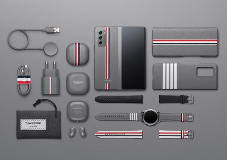 Samsung Galaxy Z Fold2 Thom Browne Edition und maßgeschneidertes Zubehör auf Video präsentiert