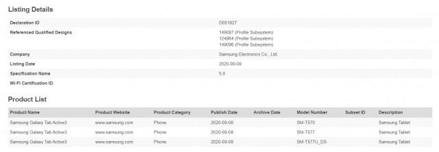 Bluetooth SIG, Samsung Galaxy Tab Active3 adını onaylar