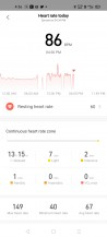 Heart rate monitoring on Amazfit Neo