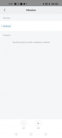 The Bip U supports custom vibration alerts